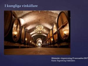 Silja Historisk vinprovning 13 november 2017